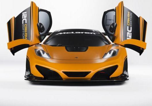 McLaren MP4 12-C Can-Am Edition anteriore portiere aperte