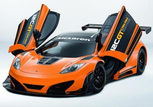 McLaren MP4 12C GT Can-Am Edition tre quarti anteriore portiere aperte