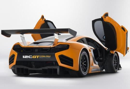 McLaren MP4 12C GT Can-Am Edition tre quarti posteriore portiere aperte