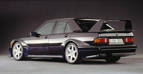 Mercedes 190 E 2.5-16 Evolution II tre quarti posteriore