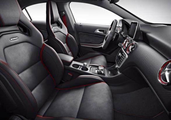 foto mercedes classe a 45 amg edition 1 interni. Black Bedroom Furniture Sets. Home Design Ideas