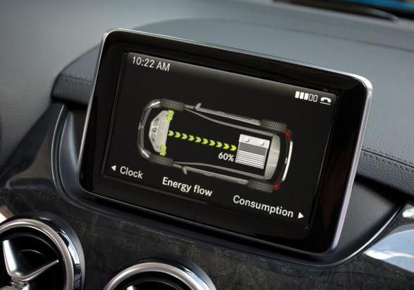 Mercedes Classe B Electric Drive display