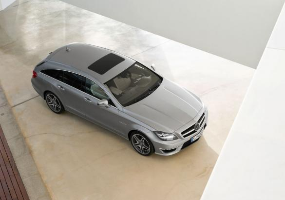Mercedes CLS Shooting Brake 63 AMG vista dall'alto