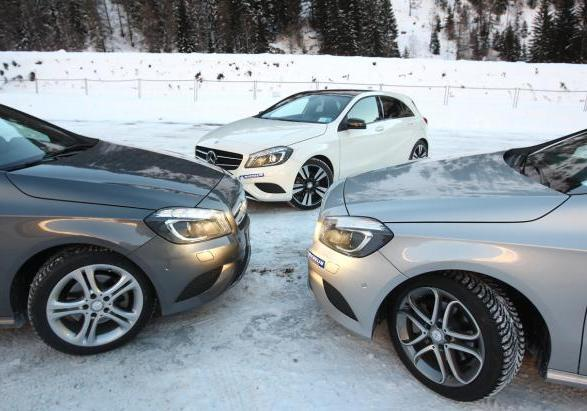 Michelin Winter Test Drive con Mercedes Classe A