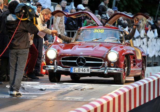Rally mercedes-benz tribute to mille miglia 2014