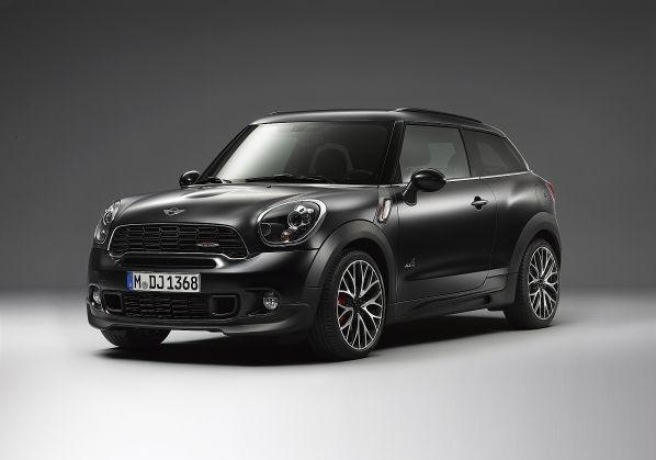 Mini Paceman Frozen Black metallic tre quarti anteriore
