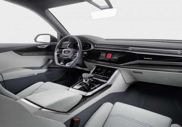 Novità Audi Q8 concept Detroit 2017 abitacolo