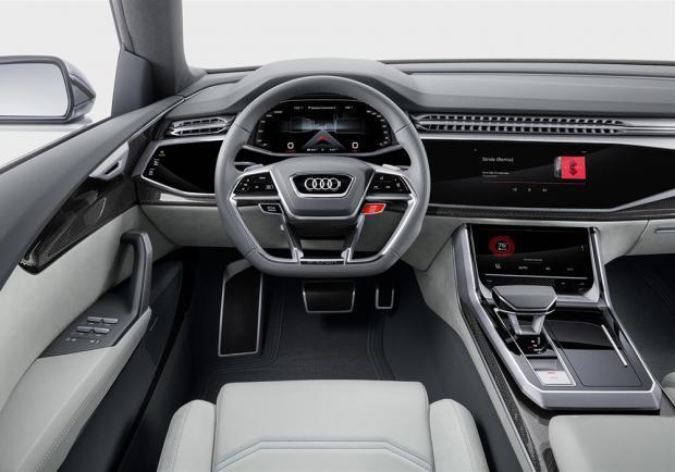 Novità Audi Q8 concept Detroit 2017 interni