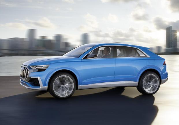 Novità Audi Q8 concept Detroit 2017 profilo