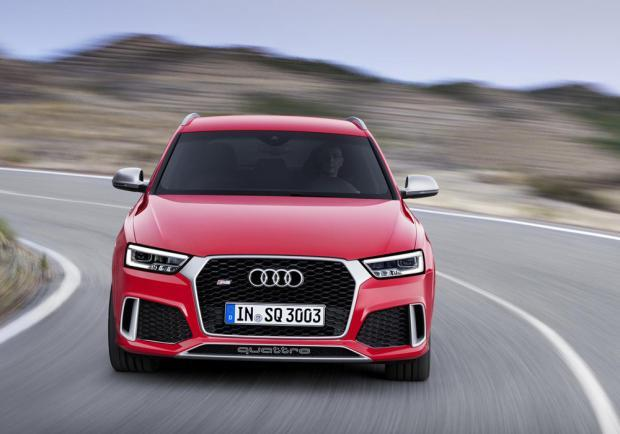 Nuova Audi Q3 RS restyling 2015 anteriore
