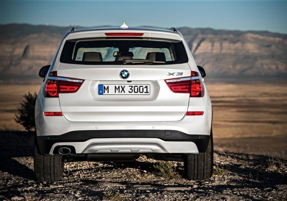 Nuova BMW X3 restyling 2014 posteriore