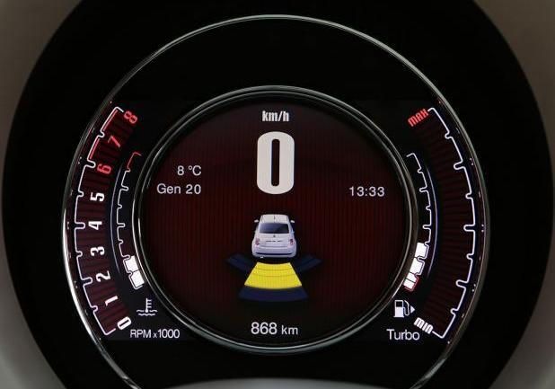 Nuova Fiat 500 Cult display TFT da 7