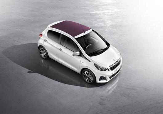 Nuova Peugeot 108 Top! con cappotte Red Purple