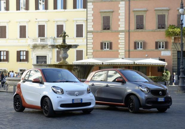 Nuove Smart Fortwo e Forfour