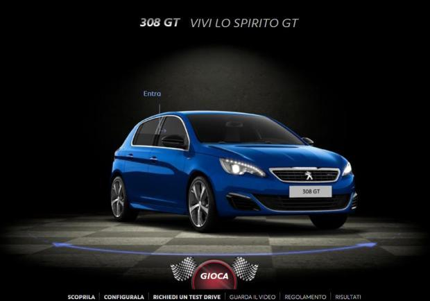 Peugeot 308 GT, un concorso per vincere il Goodwood Festival of Speed
