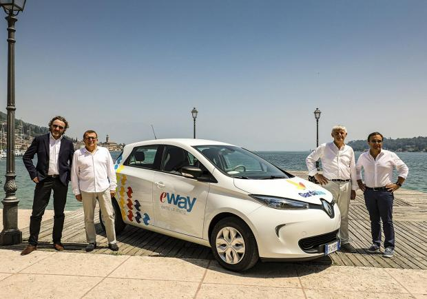 Renault Zoe car sharing E-Way sul Lago di Garda 4