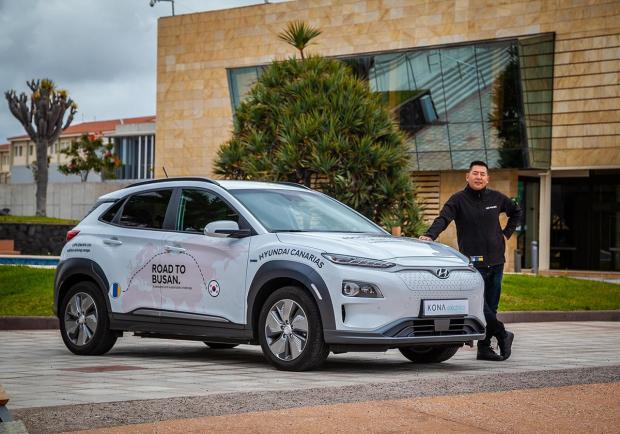 'Road to Busan': 180.000 km su una Hyundai Kona Electric