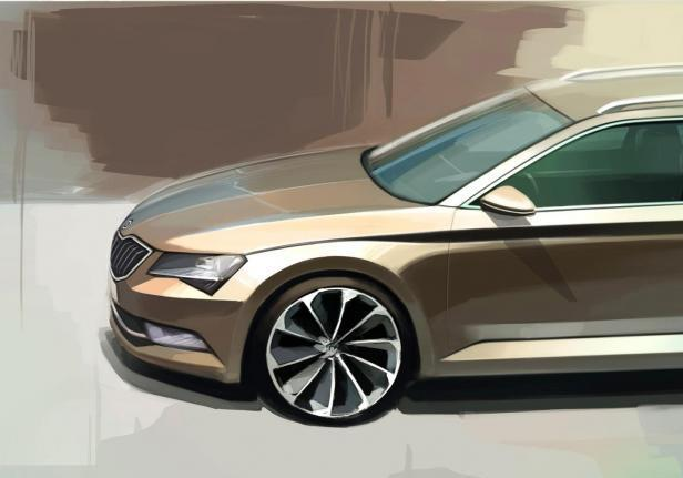 Skoda Superb Wagon design muso