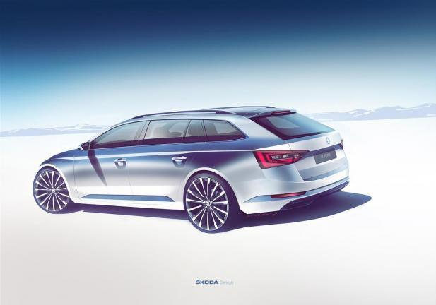 Skoda Superb Wagon design