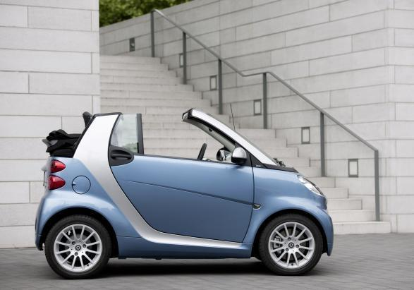 Smart Cabrio per neopatentati laterale