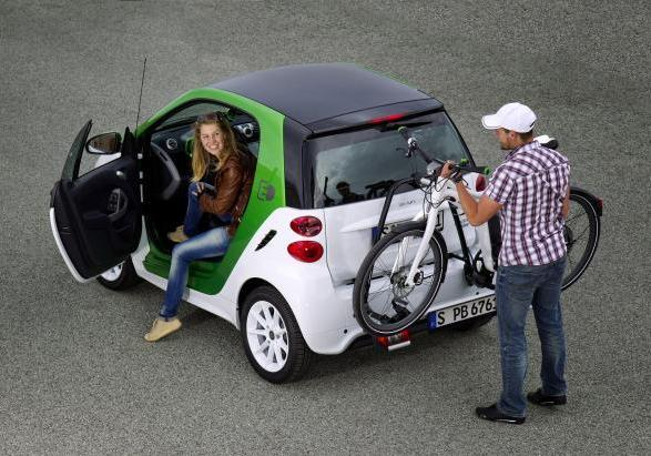 Smart ebike su Smart Fortwo electric drive