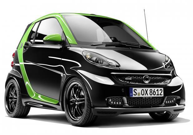 Smart Fortwo Brabus Electric Drive tre quarti anteriore