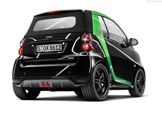Smart Fortwo Brabus Electric Drive tre quarti posteriore