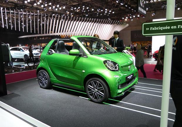 Smart Fortwo Cabrio Electric Drive al Salone di Parigi 2016 5