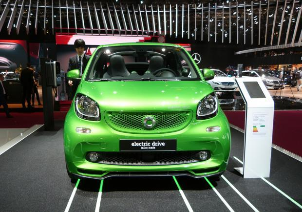 Smart Fortwo Cabrio Electric Drive al Salone di Parigi 2016