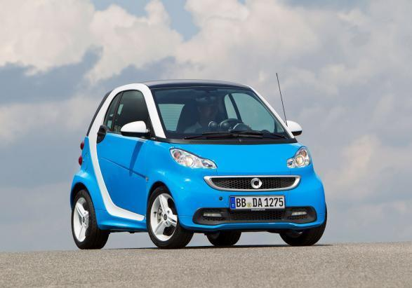 Smart Fortwo Edition Iceshine tre quarti anteriore lato destro