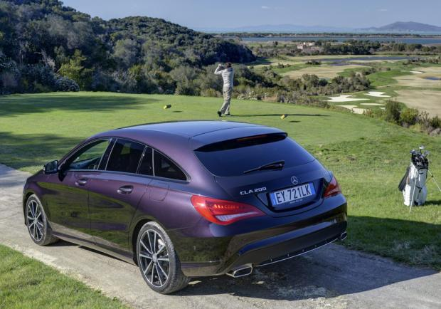 Test drive CLA 200 CDI Shooting Brake posteriore