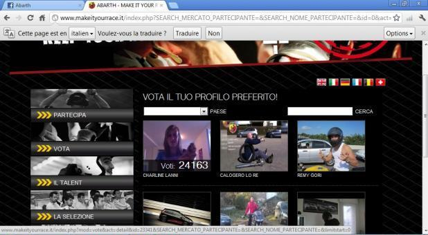 Video degli iscritti a Make it your race 2012